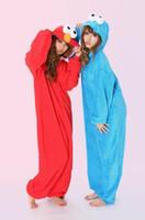 Wholesale Games Sesame - wholesale Sesame Street red Elmo cosplay Costume Adult romper pajamas pyjamas onesie