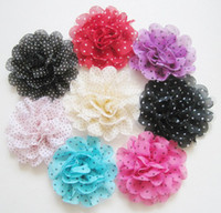 Wholesale Diy Lace Brooch - Free Shipping Hot sale 4'' Chiffon Flowers Hairclip and Brooch DIY Fabric Flower Girl's Hair Accessories Handmade Flower FFCD17015