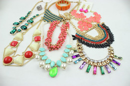 Wholesale Wholesale Cheap Bohemian Jewelry - Bohemian Jewelry Cheap Europen Style Gemstone Crystal Necklace Bracelet Earrings Rings Mixed Sold By Weight 500g lot