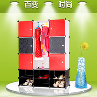 Wholesale Diy Plastic Simple Wardrobe - Diy simple brief modern wardrobe storage cabinet storage cabinet drawer plastic shoe
