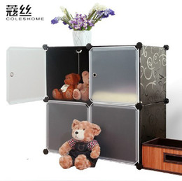 Wire Baby Clothes Storage Cabinet Baby Easy Storage Cabinet Belt Door Plastic  Cabinet