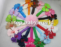 "Wholesale Children Headband Design Ribbon - new design 60pcs lot 3"" baby ribbon bows headband hairband kids' hair accessories children accessories Baby Boutique bows"