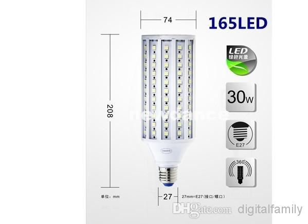 E27 E26 E14 B22 5050 SMD LED Maisbirnen-Licht-Mais-Lampen-Energiesparlicht des hellen 360 ° kühles weißes 5W 7W 10W 12W 15W 20W 25W 30W Neue Ankunft