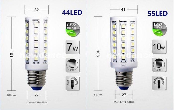 E27 E26 E14 E14 B22 5050 SMD LED 옥수수 전구 빛 360degree 옥수수 램프 에너지 절약 빛 멋진 흰색 5W 7W 10W 12W 15W 20W 25W 30W 새로운 도착