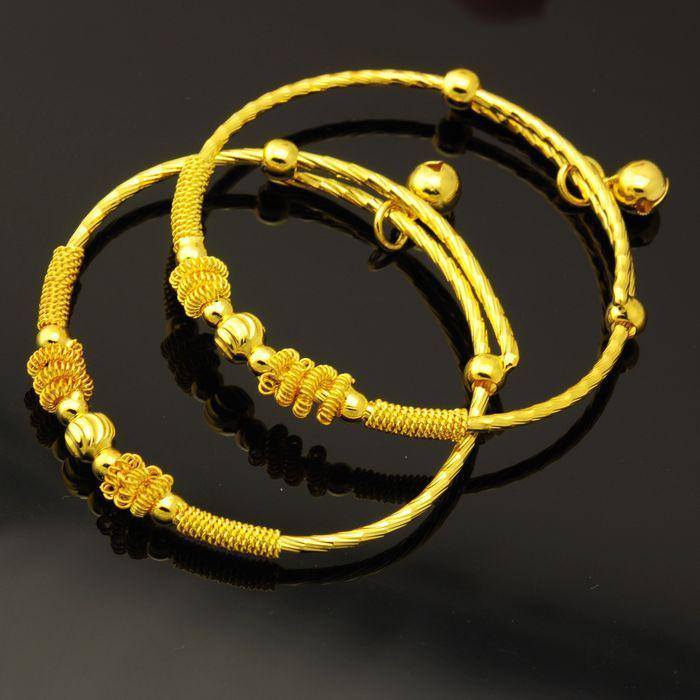 Children Under The Age Of One Month Baby Gold Plated Bangle ...