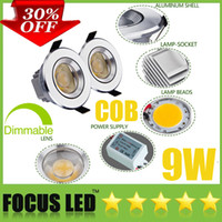 Wholesale Discount Recessed Led Lights - Crazy Discount-30% OFF-Dimmable Non Ultra Bright 9W 1*9 Watt COB LED Downlights 3.5 Inch Fixture Recessed Lamps Cabinet Ceiling Down Lights