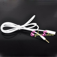Wholesale Iphone Plugs Headset - 3.5mm Jack Plug Male  Female Headphone Earphone Headset Cord Extension White Cable AUX Audio Adapter