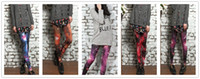 Wholesale Legging Lycra Galaxy - Women Leggings Stretch High Waist Luxurious Galaxy Print Legging Space Tight Pants Fadeless