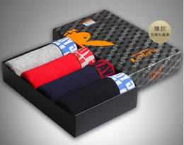 Wholesale Stretch Cotton Boxers - Playboy high-end gift box underpants underpants hip stretch cotton men boxer underwear men Leggings