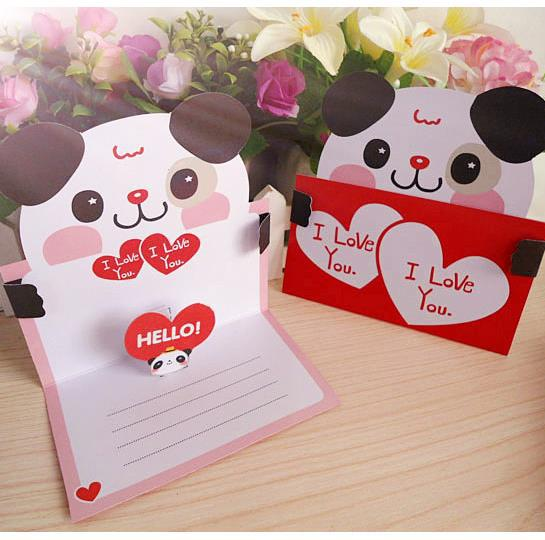 Cartoon 3d Greeting Card 8 Patterns Mixed Thank You Card Happy Birthday Card  Love Heart Gift Card High Quality General Greeting Card Free E Greeting  Cards ...