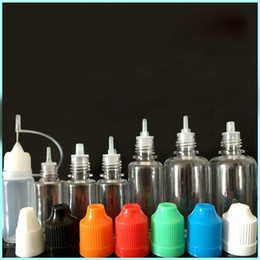 Wholesale electronic cigarette cap - Dropper Bottle for E liquid with ChildProof Caps 5ml 10ml 15ml 20ml 30ml 50ml Electronic Cigarette Plastic PET Bottles