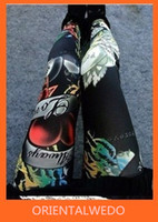 Wholesale Graffiti Leggings For Women - Graffiti Tattoo Printed Leggings for Women Elastic Polyester Acrylic Made Free Size latest new Free Shipping