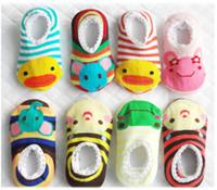 ingrosso pantofole di natale del neonato-Calzini da barca più economici Calzini antiscivolo Coprigambe Infantini da camera Calzini da bambino Calza da neonato YFF