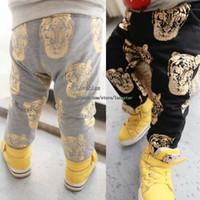 Wholesale Kids Winter Pants Legging - Long Trousers Baby Clothes Harem Pants Tiger Printed Trouser Kids Clothing Children Casual Pants Boys Trouser Winter Pants Casual Trousers