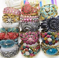 Wholesale Perfume Enamel - fashion bangles perfume nomination neon candy color bracelet fashion punk bangles enamel crystal bracelets charm bracelet for women