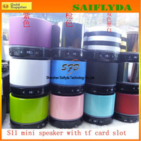 Wholesale bluetooth s11 - S11 Wireless Bluetooth 4.0 HD Speakers mini bluetooth speaker HIFI speakers Support for all Cell Phone