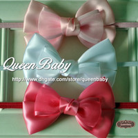 Wholesale Thin Silk Baby - Silk Bow Tie Bow With Thin Handmade Baby Bow Tie Hair 60pcs lot QueenBaby Trial Order