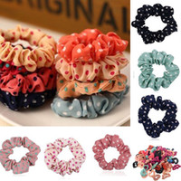 Wholesale Fabric Ponytail Holders - Fashion 100pcs Lots Cute Sweet Girl Elastic Hair Band Ponytail Holder Hair Accessories Hot Sale [CL0065(10)*10]