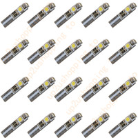 Wholesale T5 Led Light Price - 20PCS T5 3 LED 3528 SMD Instrument Dashboard Gauge Wedge Light Bulbs Pure White for good price free shipping