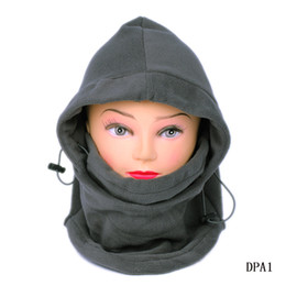 Wholesale Balaclava Hood Police - Fashion Outdoor Thermal Winter Warm 6 in 1 Balaclava Hood Police Swat Ski Cap Fleece Bike Scarf Wind-proof Mask Hat 5pcs lot Gray DPA1*5