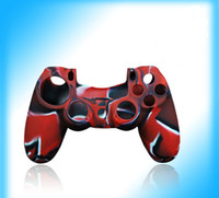 Wholesale silicone rubber case for ps4 resale online - controller case silicon rubber camouflage console case for PS4