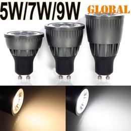 Wholesale Led Energy Saving Mr16 - cob led bulb SpotLight GU10 E27 MR16 5w 7w 9w Cool  Warm White dimmable non AC85-265V Energy Saving Light lamp Epistar 2014 DHL ship 100pcs