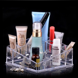 Wholesale White Makeup Storage Boxes - USA STOCK !!! 2pcs lot Makeup Organizer Cosmetic Acrylic Clear Case Display Box Jewelry Storage Holder SF-1119