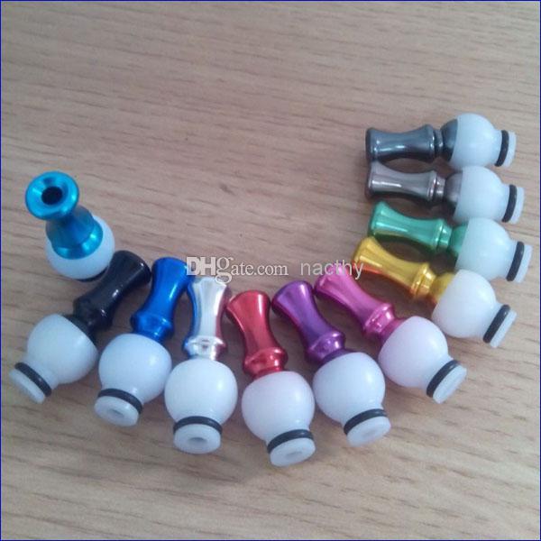 Electronic Cigarette Mouthpiece Auminium drip tips 360 Degree Rotatable metal drip tip fit 510 Thread CE4 CE5 ce6 DCT vivi nova ego t ego w