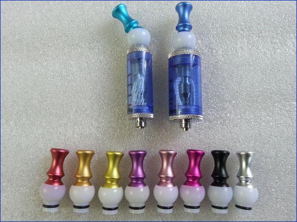 Elektronische Zigarette Mundstück Auminium Tropfspitzen 360 Grad drehbare Metall Tropfspitze Fit 510 Gewinde CE4 CE5 CE6 DCT Vivi Nova Ego T Ego w
