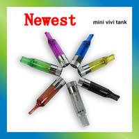 Wholesale Ego Vivi Mini Kit Set - New Mini Vivi Tank Crystal Tank Mini Atomizer 2.0ML 2.2ohm -2.6ohm Clearomizer for Ego Electronic Cigarette E Cigarette Kits for eGo Battery