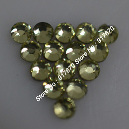 Wholesale Jonquil Rhinestone - 1440pcs pack hot fix SS10 2.7-2.9MM korean rhinestone nailarst Jonquil DIY iron-on Hot Fix crystal stones