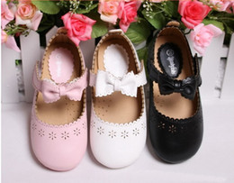 Wholesale Babys Spring - Wholesale 2014 new spring summer Children's girls babys fashion pu Baby bow princess casual shoes LY-456