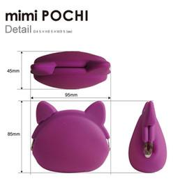 Wholesale Coin Purses Pochi - 100-cs NEW hot AUTH mimi POCHI Cat vers. Silicone Coin Purse multi case - p+g design Japan Mix Color