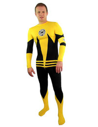 Barato Terno Do Herói Do Látex-Sinestro Lanterna Verde Lycra Body Suit Fancy Dress Super Hero Bodysuit