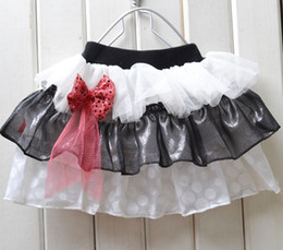 Modelli di gonna palla online-New Fashion Christmas Baby Girl Abito in pizzo a strisce Infantile Tutu Gonna Baby Ball Dress Colore casuale