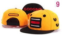 Wholesale Cheap Wholesale Sweats - 12 style Cheap Snapback Hats GOOGIMS Cute Sweating Cartoon Snapback caps,YUMS Cap Baseball Cap Hip pop and street fashion 10pcs lot