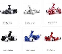 punte gocciolanti Sconti 360 rotazionale in alluminio girevole colorato rotante in alluminio rotante 510 Drip Tips Bocchini per e cigs vape mod