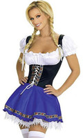 Wholesale Girl Sex Costumes - Lady's Sexy Costume For Women Sex Country Girl Halloween Costumes Serving Wench Outfit S8046 Plus Size M,L,XL,XXL,XXXL, 2xl, 3xl