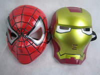 10 stücke halloween hoilday cosplay led lampe spider man maske kinder festival iron man glowing beleuchtung maske maskerade partei rote maske jungen geschenk