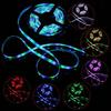 Outdoor Waterproof 3528 SMD RGB LED Strip Light 5M Roll 300 LED Flexible Strips for Lighting Decoration + 24 Keys Remote Controller 000066