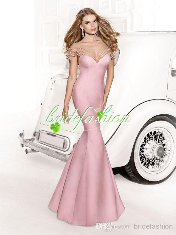 2014 Sexy Cap Sleeves V Neck Mother of the Bride Dresses Pleat Sequins Appliques Beads Chiffon Evening Gowns BO3209
