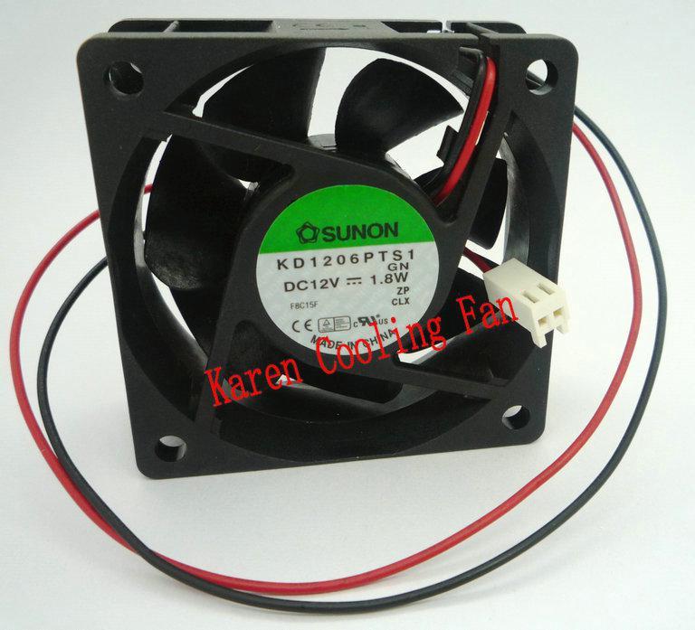 Neue Original Sunon KD1206PTS1 12 V 1,8 Watt 60 * 60 * 25 MM 6 cm Computer Lüfter