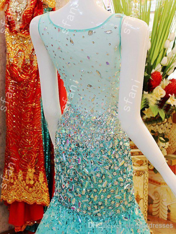 MEJOR VENDEDOR 2019 diseño de moda con cuentas de grano de la sirena de gran cuello de tul de tul vestido de piso de longitud de piso vestidos de fiesta vestidos de fiesta por la noche vestidos de fiesta