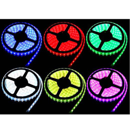 Wholesale Led Light Roll Colors - Promotion SMD 5050 Waterproof LED Strip Light 5M 150LED Roll 6 Colors Option Drop Shipping Decoration Outdoor LED Lamp DHL Free 000070