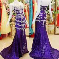 Wholesale best long sleeve evening dresses resale online - Best Selling Design Fashion Beaded Mermaid High Collar Lace Up Back Party Floor Length Prom Dresses Pageant Gowns Evening Party Gowns