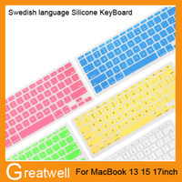 Wholesale German Keyboard Cover - German Russian French Arabic Spanish waterproof Keyboard Cover Clear Silicone Rubber For Macbook Pro Air 13 15 17 inch US EU Version