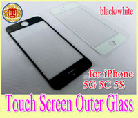 Wholesale Iphone5 Glass Lcd - Outer Front LCD Digitizer Touch Screen Display Faceplate Front Glass Lens Cover for iphone5 iphone 5 5G