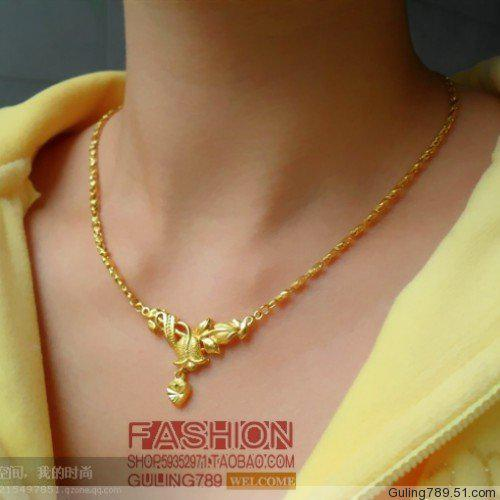 Chinese Classical Wedding Wedding Jewelry Imitation Gold Necklace