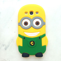 Wholesale Despicable S3 Cases - EMS FREE Despicable Me 2 Minion Minions Soft Silicone Rubber fragranceskin Case cover For iphone 4   4S 5   5S S3 i9300S4 i9500 Samsung