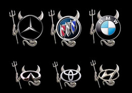 Wholesale Devil Car Decals - High quality Car Stickers for car Car decal Little Devil stickers PVC car 3D stereo bumper stickers 100pcs